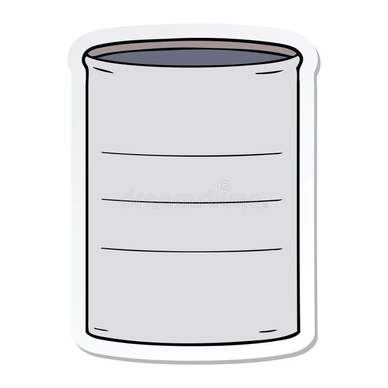 Sticker of a cartoon oil drum. A creative sticker of a cartoon oil drum stock illustration