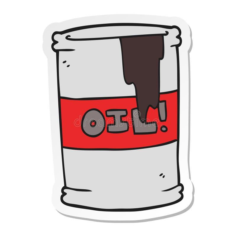 Sticker of a cartoon oil drum. A creative illustrated sticker of a cartoon oil drum stock illustration