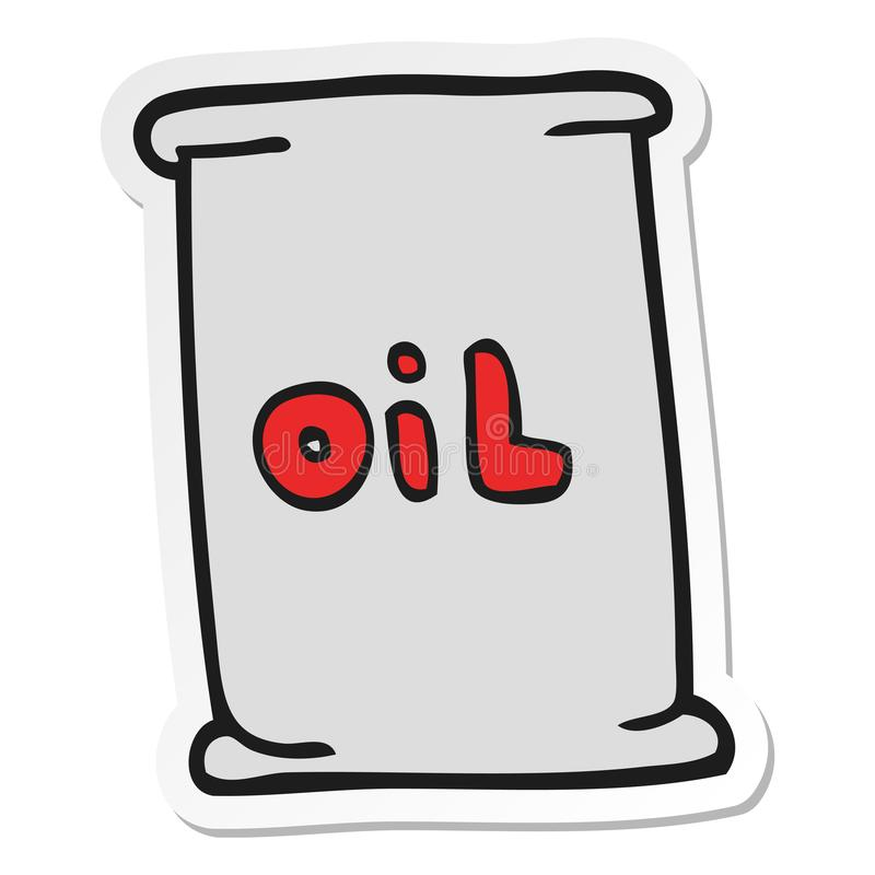 Sticker of a cartoon oil drum. A creative illustrated sticker of a cartoon oil drum vector illustration