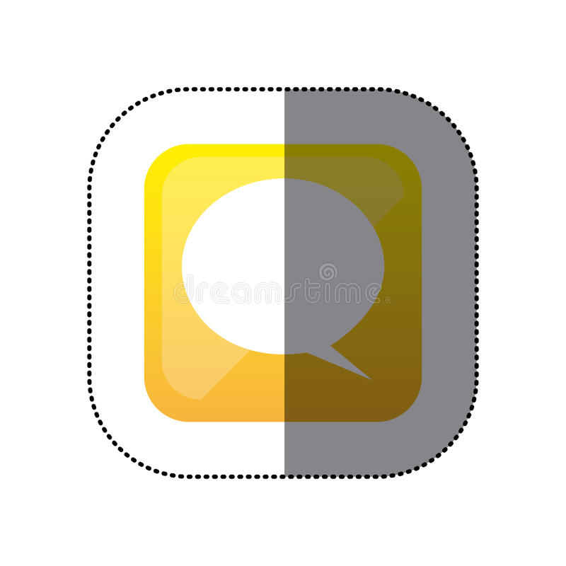 Square Speech Bubble Sticker