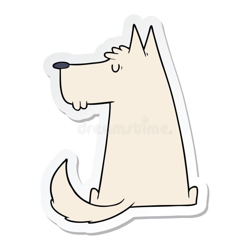 sticker of a cute cartoon dog royalty free illustration