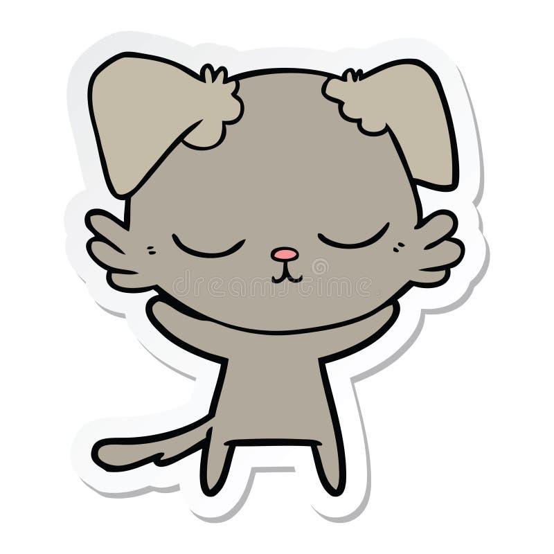 sticker of a cute cartoon dog stock illustration