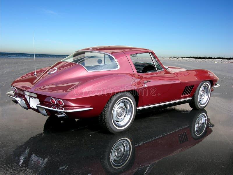 sticker den corvette coupestrålen 1967 royaltyfri foto