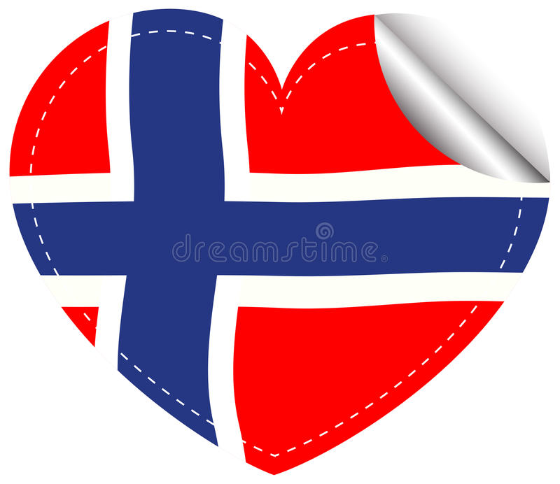 Download sticker design for flag of norway stock vector illustration of sticker international