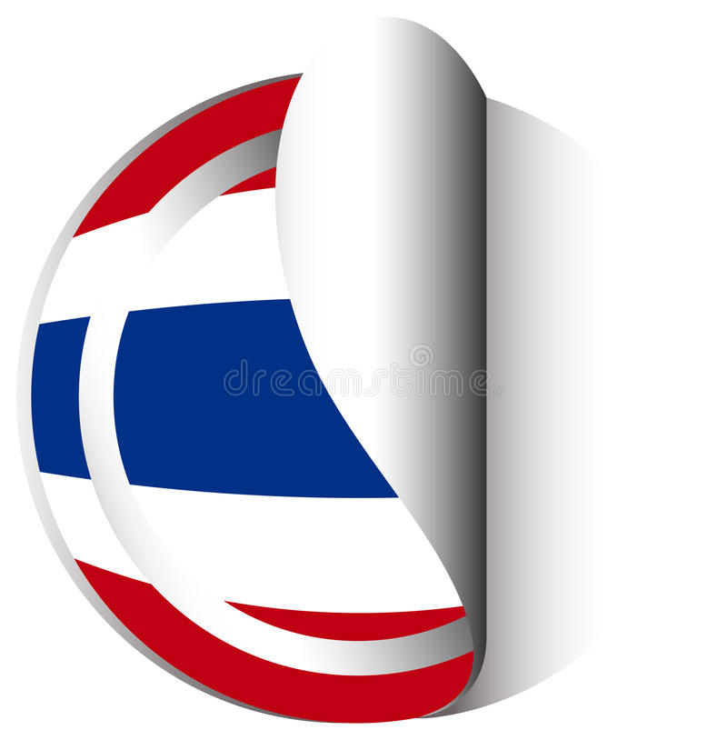 Download sticker design for flag of thailand stock vector illustration of clipping image
