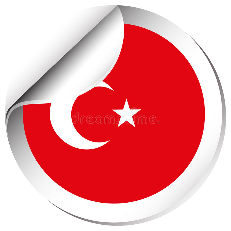 Download sticker design for turkey flag stock vector illustration of international label 90286529