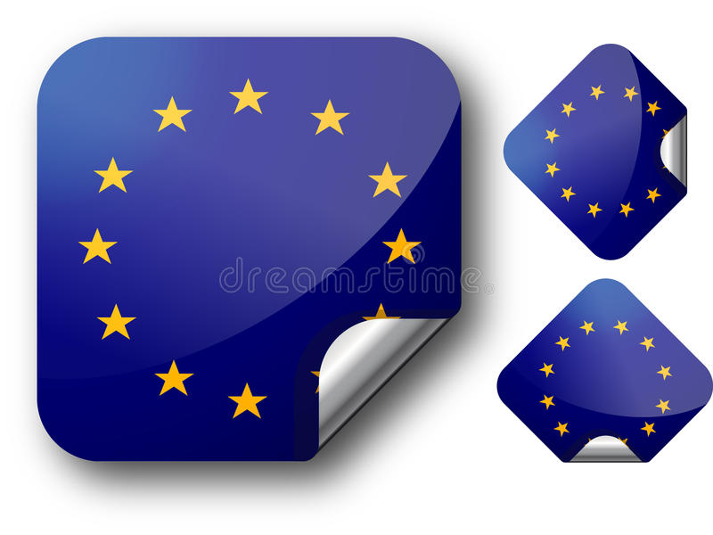 Download Sticker with EC flag stock illustration. Image of ceremony - 14693006