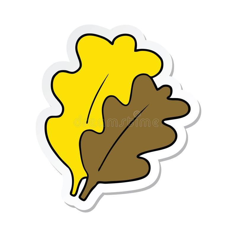 Sticker of a fall leaves cartoon. A creative illustrated sticker of a fall leaves cartoon royalty free illustration