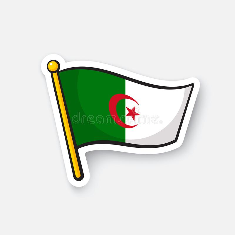 Download sticker flag of algeria stock vector illustration of isolated 104144193
