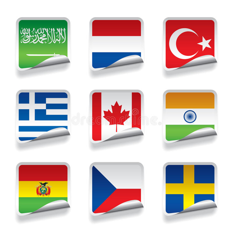 Download Sticker flags stock vector. Illustration of europe, east - 33833928