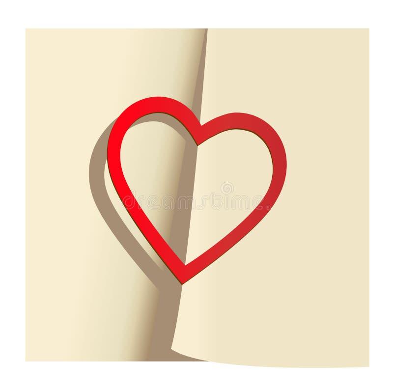 Sticker in form red heart