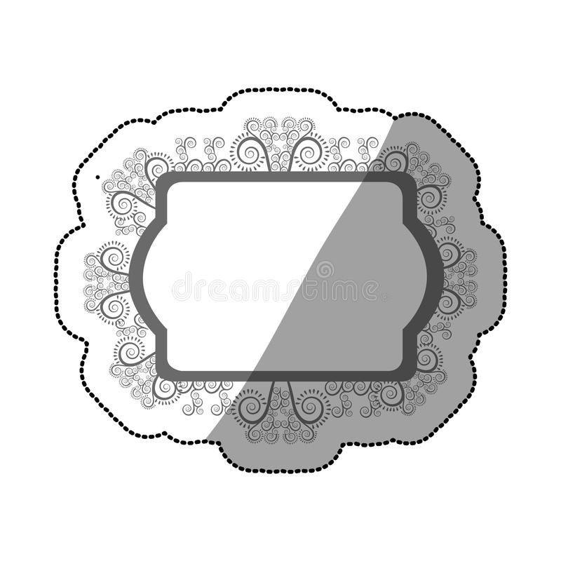 Sticker Of Oval Speech With Pictogram Of Couple And Baby