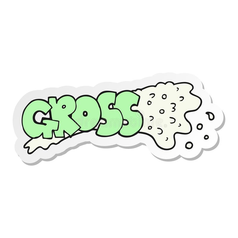 sticker of a gross cartoon vector illustration