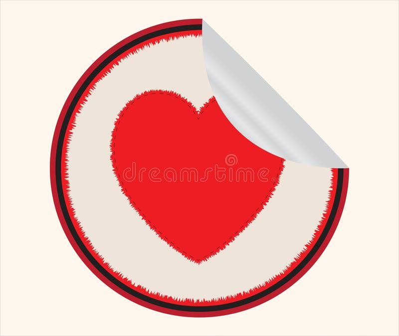 Sticker with heart inside royalty free stock photos