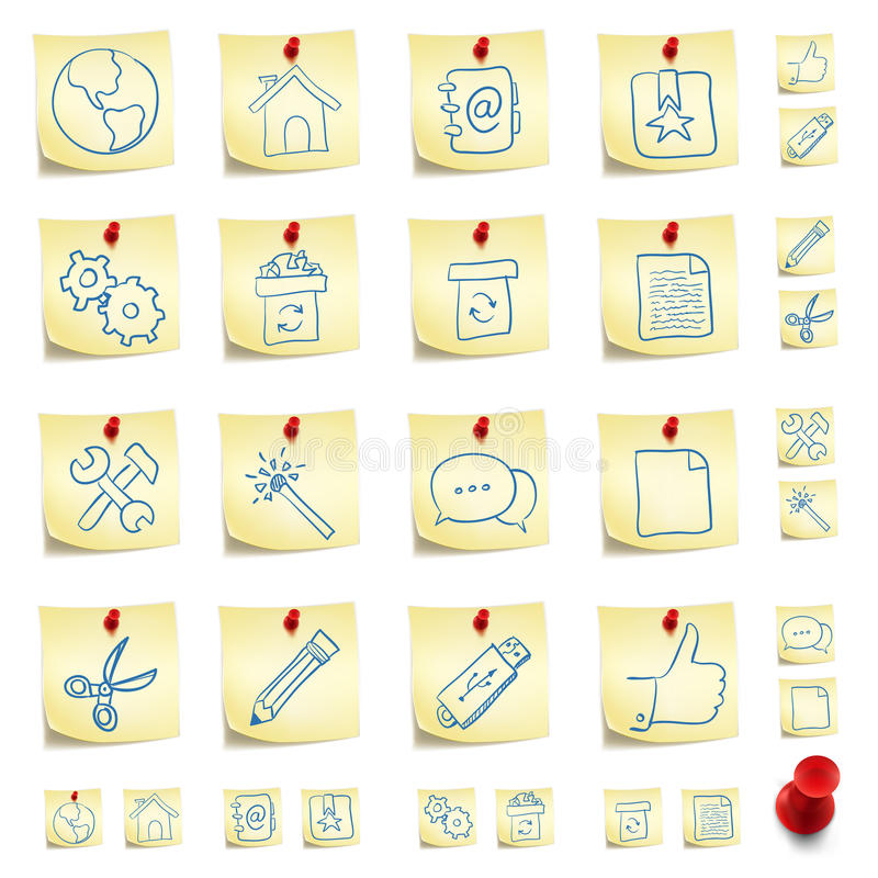 Download Sticker Icon Set stock vector. Image of clip, internet - 21011426