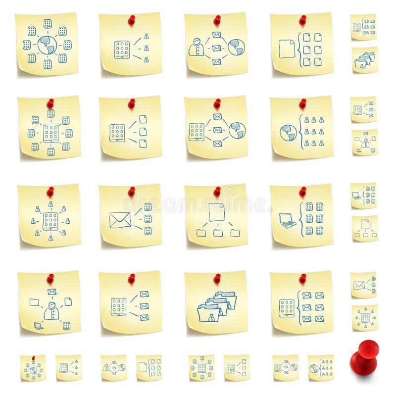 Sticker Icon Set royalty free illustration