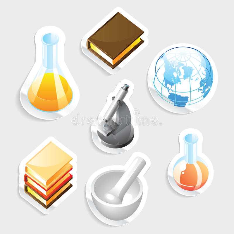 Download Sticker Icon Set For Education Stock Image - Image: 21709981