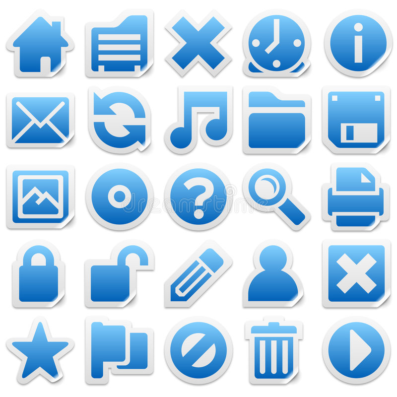 Download Sticker Icons Royalty Free Stock Images - Image: 2346219