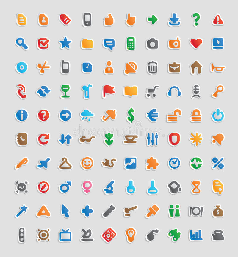 Sticker icons stock illustration