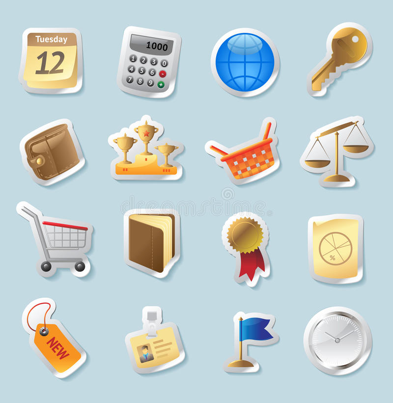 Download Sticker Icons For Business And Finance Stock Vector - Image: 22093972