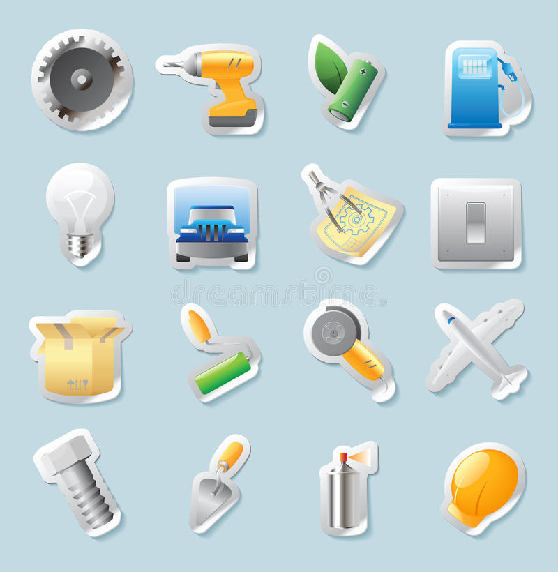 Download Sticker Icons For Industry Stock Images - Image: 22956944