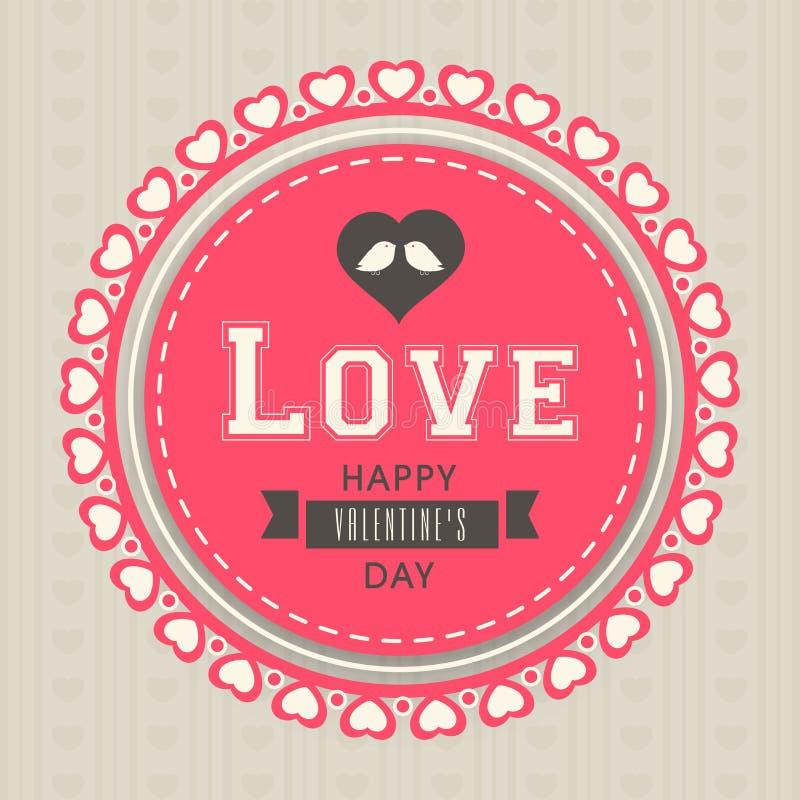 Download sticker or label for happy valentines day celebration stock illustration illustration of event