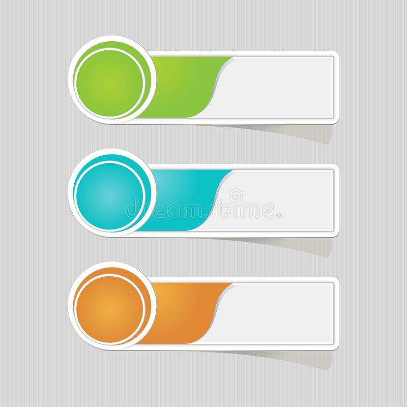 Sticker label paper colorful set royalty free illustration