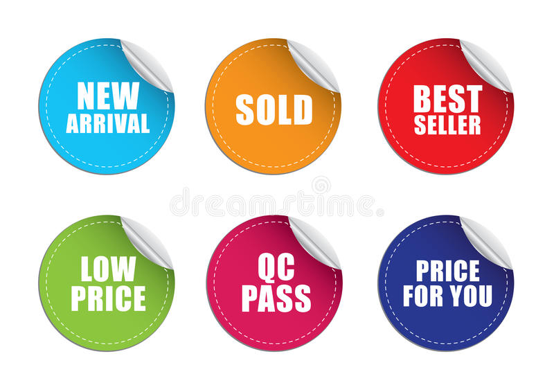 Sticker label price stock photos