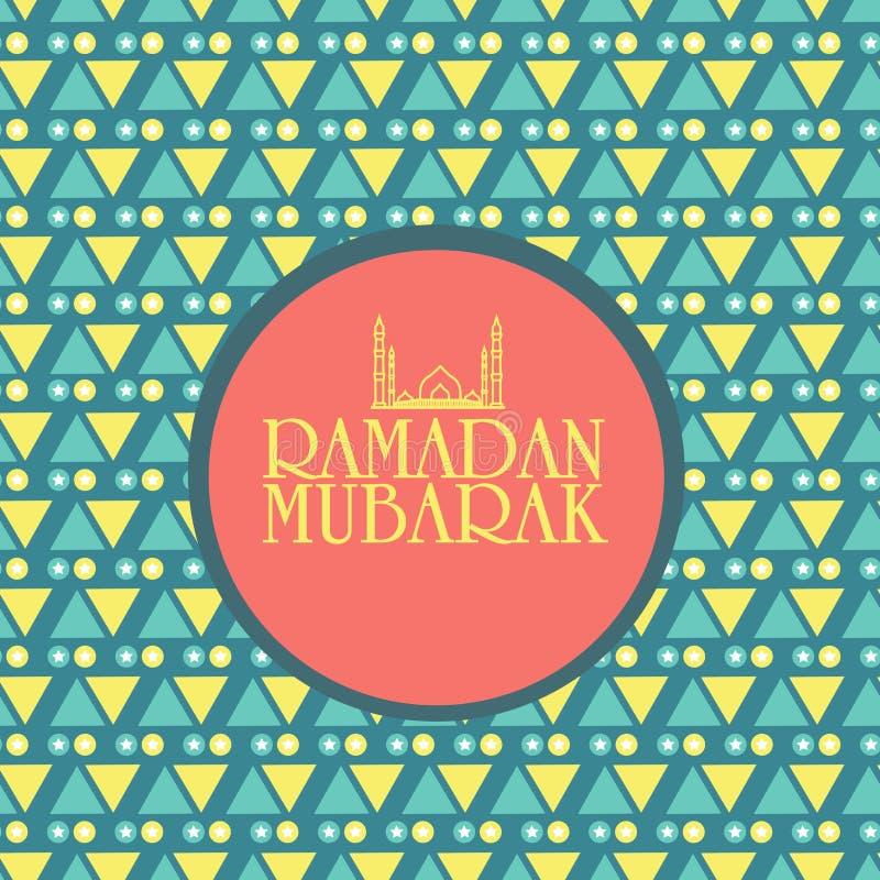 Sticker, markerings of etiketontwerp voor Ramadan Kareem-viering