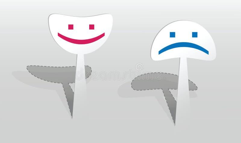 Download Sticker Met Twee Glimlachen Vector Illustratie - Illustratie bestaande uit grafisch, eenvoudig: 29501340