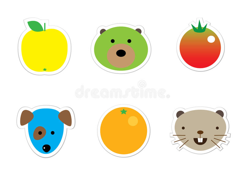 Download Sticker mix stock illustration. Illustration of character - 12067087