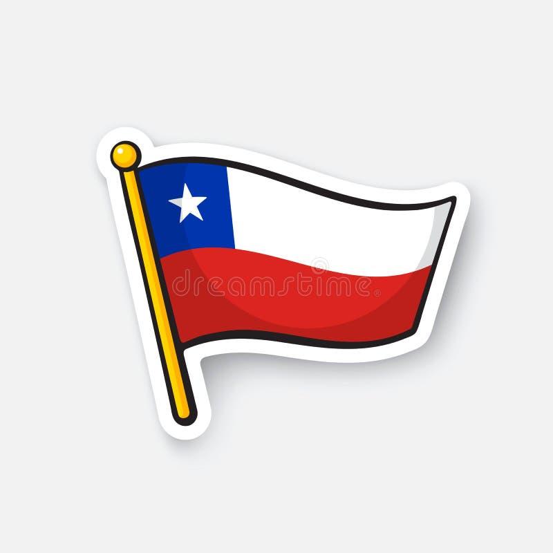 Sticker national flag of Chile vector illustration