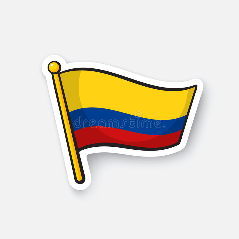Download sticker national flag of colombia stock vector illustration of country colombia 91044802
