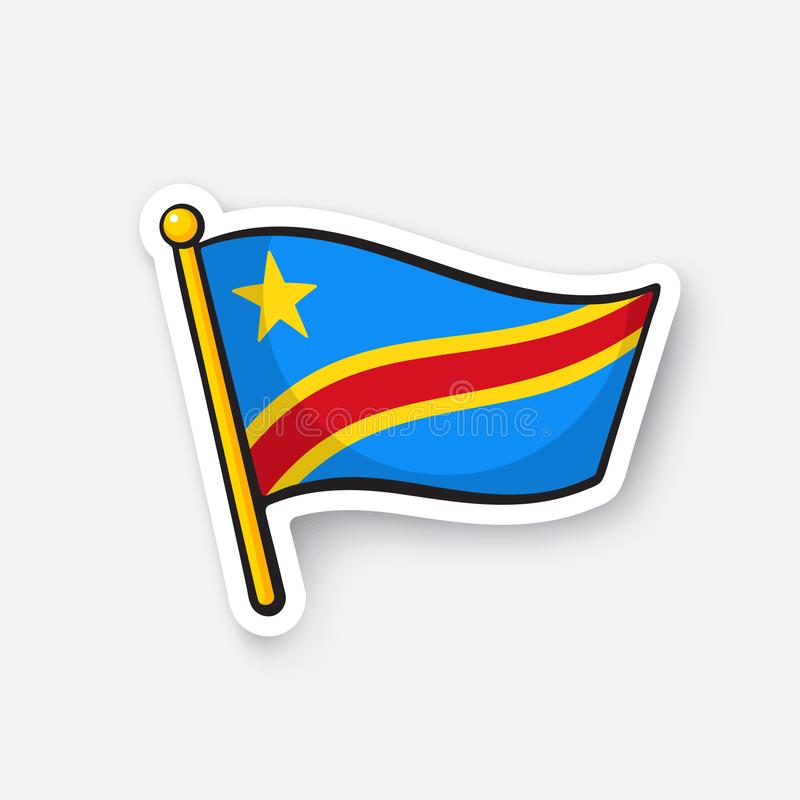 Download sticker national flag of democratic republic of the congo stock vector illustration of illustration