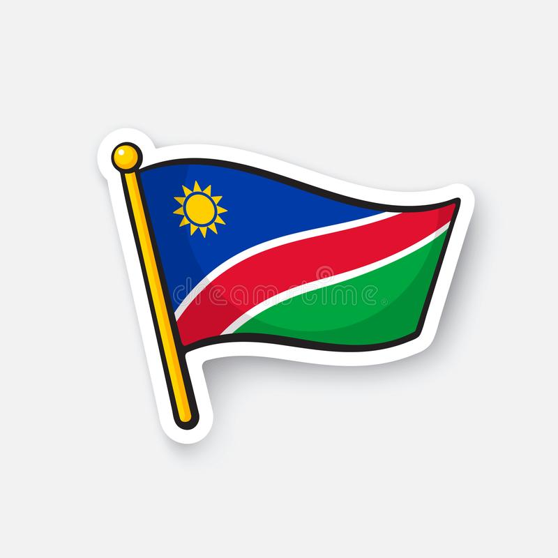 Download sticker national flag of namibia stock vector illustration of picture destination 110233364