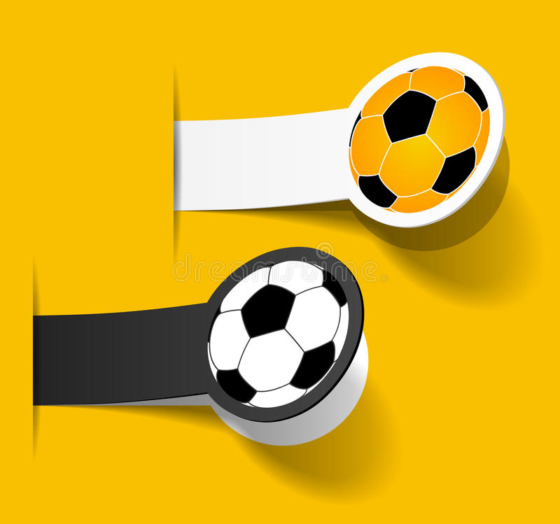 Download Sticker With A Picture Of A Soccer Ball Stock Vector - Illustration: 25470644