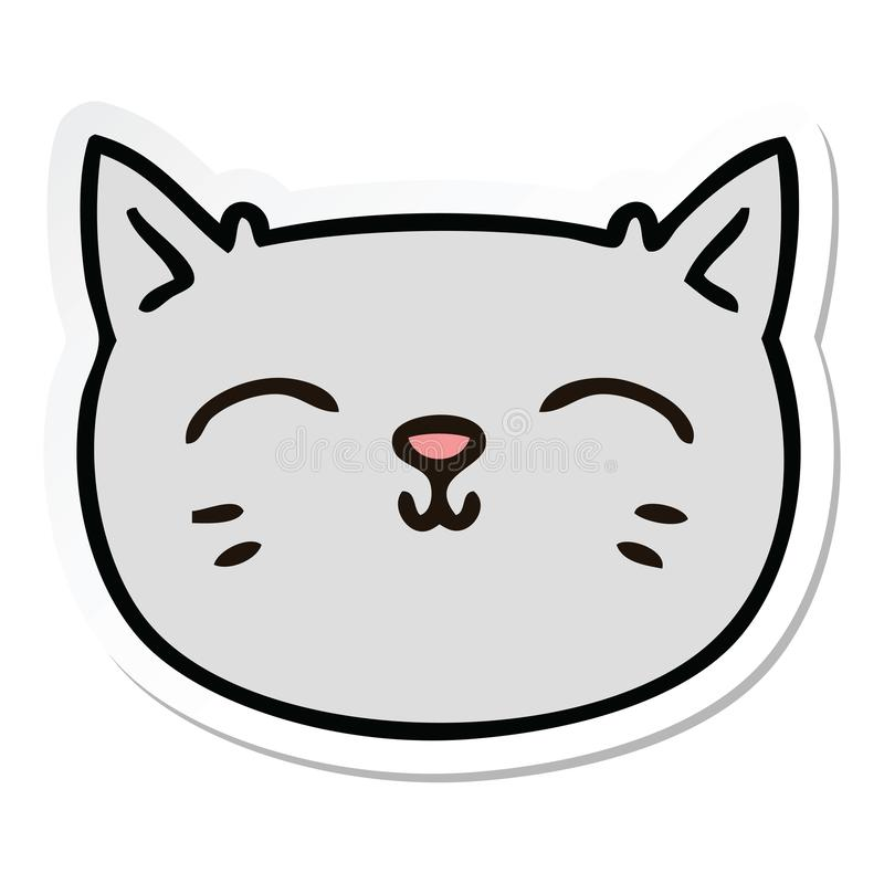 Cat Kitten Pussy Face Pet Animal Cute Cartoon Sticker Decal Icon Stick Character Doodle Drawing Illustration Art Artwork Funny Crazy Quirky Stock Illustrations 4 Cat Kitten Pussy Face Pet Animal Cute