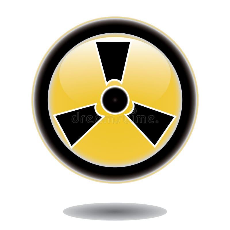 Sticker radiation hazard symbol