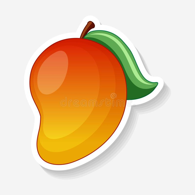 A Sticker of Red Mango. Illustration stock illustration