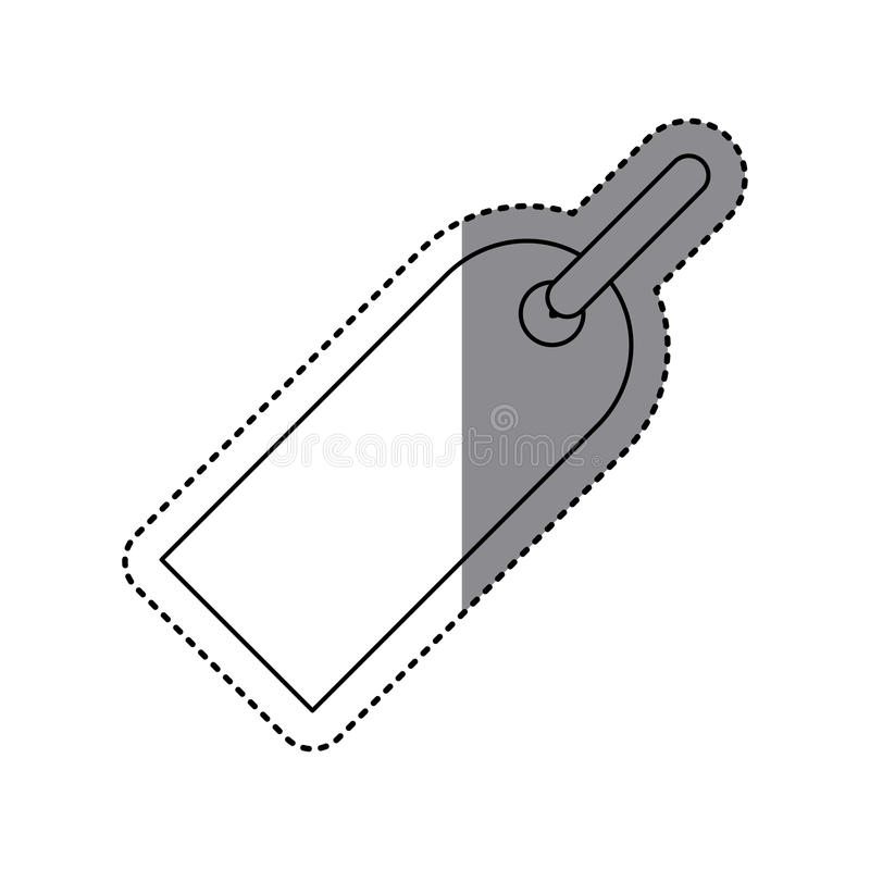 sticker shading silhouette hanging price tag icon stock illustration
