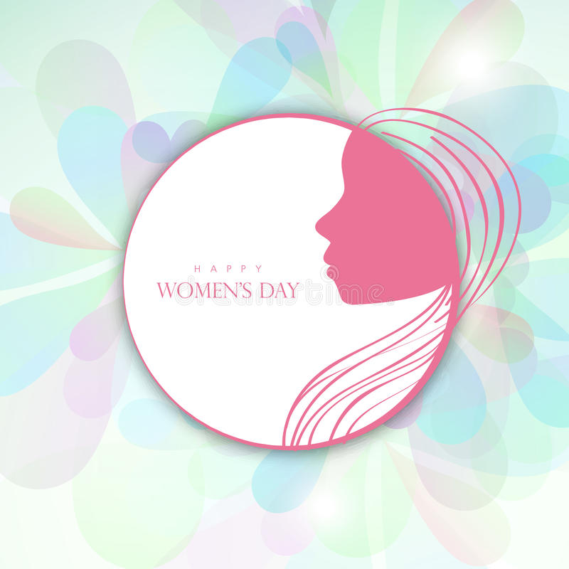 Download sticker tag or label design for happy womens day stock illustration illustration