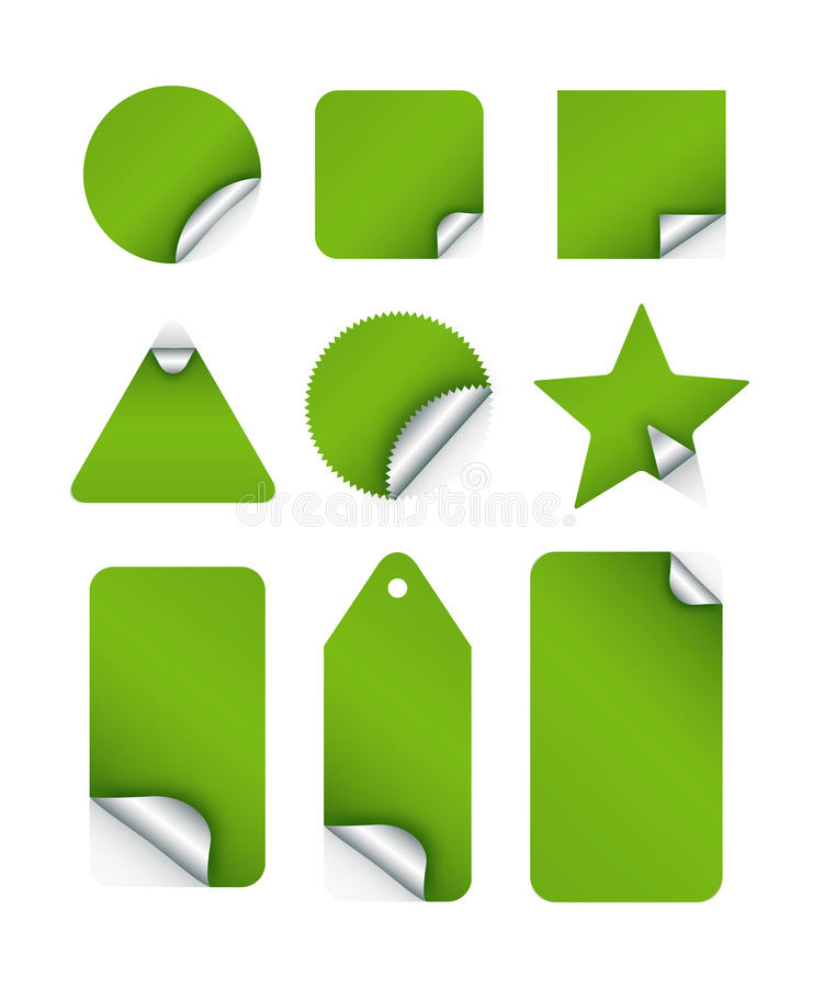 Download Sticker Tags stock vector. Illustration of shapes, paper - 12966329
