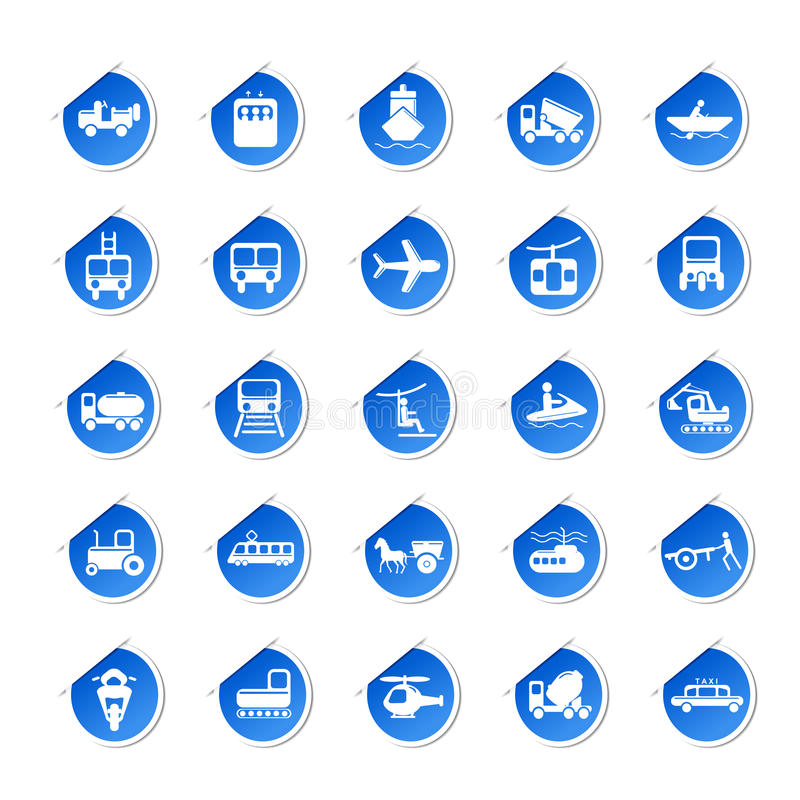 Download Sticker of Transport Icon stock vector. Image of means - 24400620