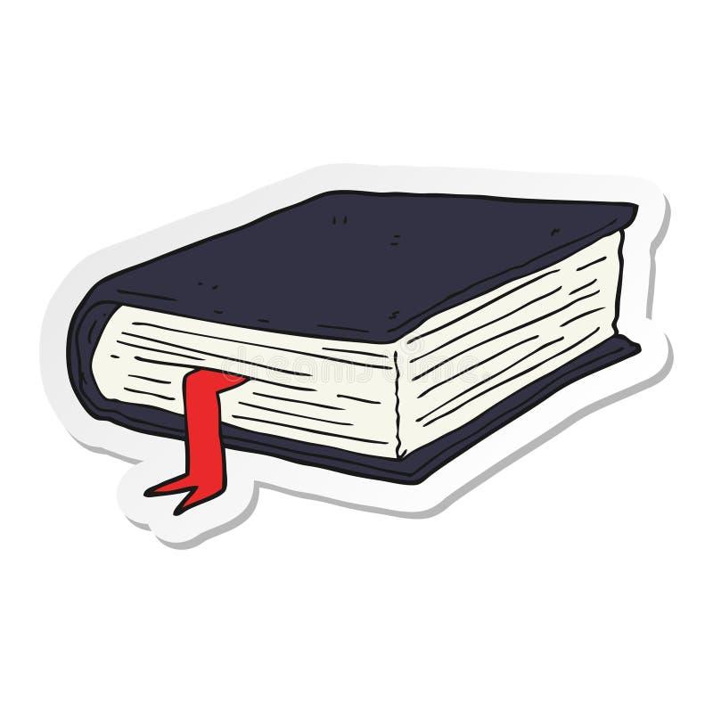sticker van een beeldverhaal dik boek stock illustratie