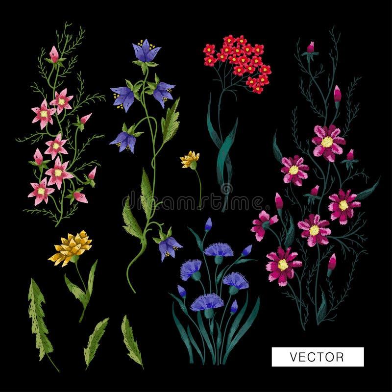 Download Stickereiblumen vektor abbildung. Illustration von abbildung - 90237241