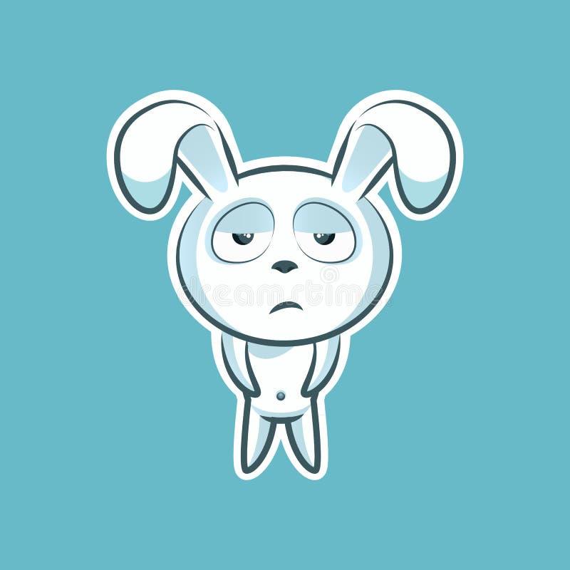 Stickeremoji emoticon royalty-vrije illustratie