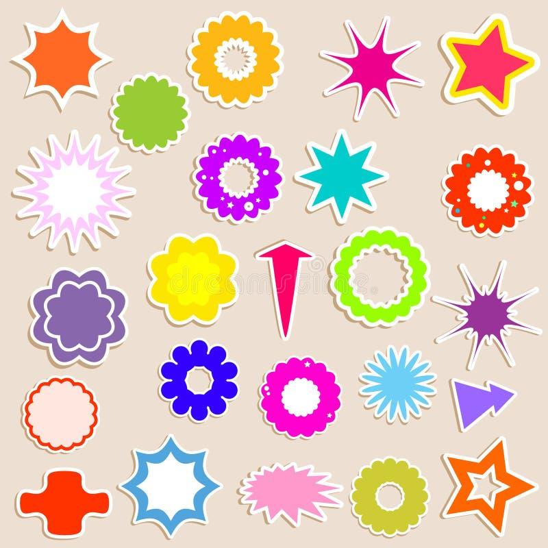 Download Stickers stock vector. Image of design, vector, star, arrow - 9758116