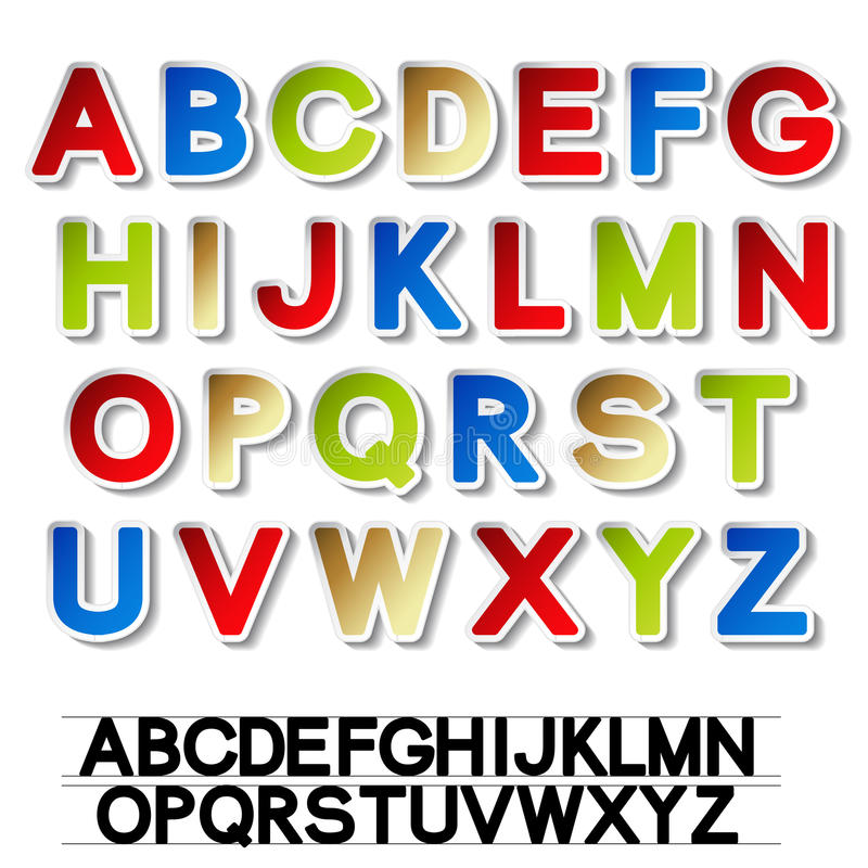 Download Stickers Of Alphabet - Own Font Royalty Free Stock Photo - Image: 22468675