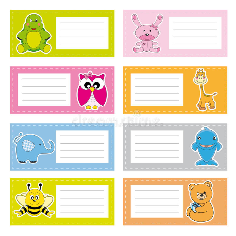 Download Stickers animals stock vector. Illustration of child - 20902616