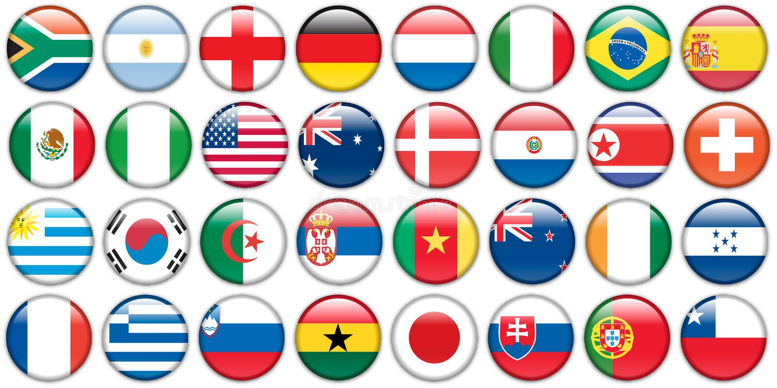 Download Stickers Buttons Of National Flags Stock Vector - Image: 12848842